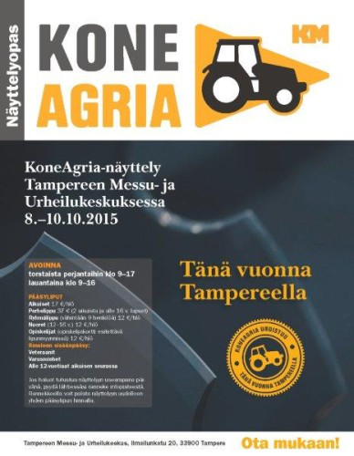 KoneAgria tänä vuonna Tampereella