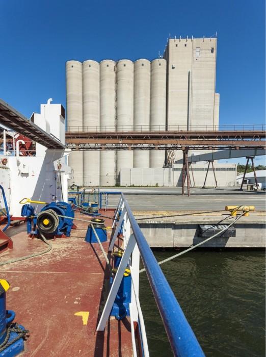Merkittävä osa suomalaisesta viljasta päätyy vuosittain vientiin. Satamavarastojen riittävyydestä onkin herännyt huoli. Varmuusvarastoja supistettaessa on esitetty toiveita, että samalla vapautettaisiin satamasiilostoja viennin tarpeisiin.