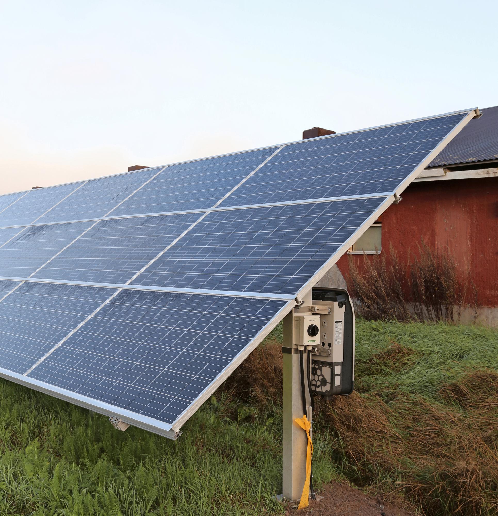 Viljelijät investoivat aurinkosähkön tuotantoon